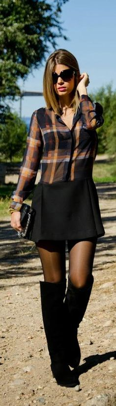 Fall Fashion 2014 - I think stocking are def still in!  Love the femine touch