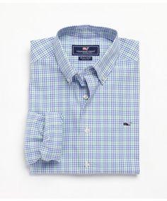 Men's Whale Tattersal shirt by @vineyardvines   www.keenelandgiftshop.com