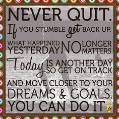 Keep Going ... And Don't Look Back!