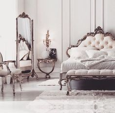 Italian designer bedroom sets and furniture accessories. Italian bedroom design to create a luxury oasis. Furniture design for master and guest bedrooms. Luxury Bedroom Sets, Luxury Bedroom Furniture, Luxurious Bedrooms, Royal Bedroom, Home Bedroom, Bedroom Decor, Dream Bedroom, Master Bedroom, Dressing Design
