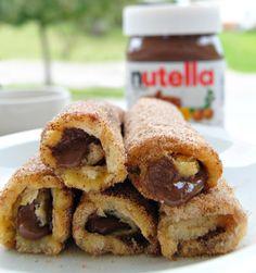 Nutella French Toast Rolls with Cinnamon Sugar