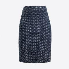 J.Crew+Factory+-+Jacquard+pencil+skirt