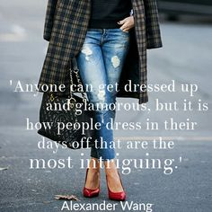 #STYLERULES : Dressing down is just as important as dressing up, says the King of Casual #AlexanderWang.