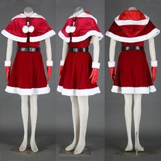 Women Santa Mrs Claus Costume Outfit Red Christmas Girls Cosplay Dress Set NEW #CompleteCostume