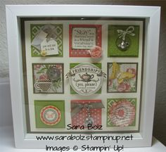 Tea for Two-Shadow Box Class. Stampin' Up! Stampin' with Sara  www.sarabolz.stampinup.net