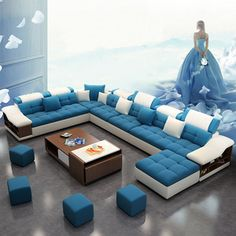 10 seater sofa set designs – Page 139892 Sofa Set Designs, Latest Sofa Designs, Design Set, Modern Sofa Designs, Corner Sofa Design, Living Room Sofa Design, Home Living Room, Living Room Designs, U Shaped Sectional Sofa