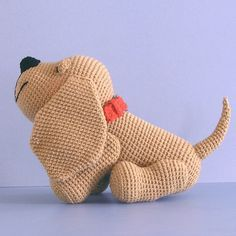 """Free pattern for """"Henry the Amigurumi Hound Dog"""" by Sue Pendleton!"""