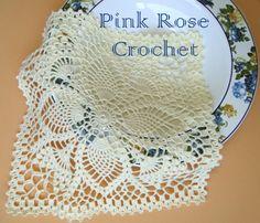 \ PINK ROSE CROCHET /: Quadrado com  Abacaxis