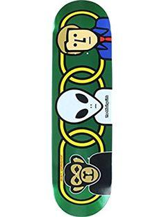 Alien Workshop Missing Link Foil LG Skateboard Deck, 8.37-Inch, Green ❤ Eastern Distribution