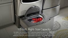 LG Electronics 29 in. 1.0 cu. ft. SideKick Pedestal Washer in White-WD200CW - The Home Depot