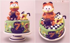 Garfield Cake - by UnJeudEnfant @ CakesDecor.com - cake decorating website