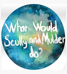 What Would Scully and Mulder Do? Canvas Prints, Art Prints, Ghost Stories, Tv, Home Art, Mythology, Original Paintings, Wall Art