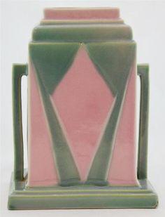 Roseville Futura Deco Vase