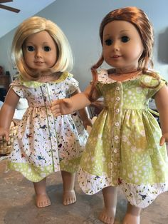 """Bluebelle in Green with White for 18"""" American Girl Dolls"""