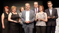 Jerzy Ciszewski (Centre) wins the Proton 2012 PR Person of the Year - the top honour in Polish PR industry