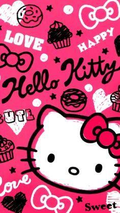 Hello Kitty Iphone Wallpaper, Hello Kitty Backgrounds, Sanrio Wallpaper, Kawaii Wallpaper, Love Wallpaper, Galaxy Wallpaper, Hello Kitty Clipart, Hello Kitty Themes, Pink Hello Kitty