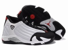 official photos 8416a 4c1d6 Cheap Cheapest Nike Air Jordan 14 Phat Retro   Black Toes   White And  Black-Varsity Red-Metallic Silver Shoes Foot Locker Store