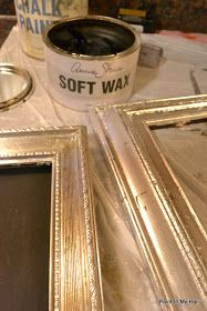 DIY:  How to Make Mercury Glass Frames - using silver leaf - via Paint in My…