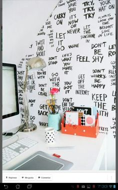 Cute collage word wall art!!!