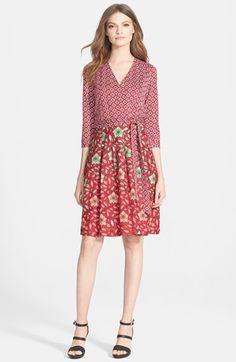 Diane+von+Furstenberg+'Jewel'+Knit+Silk+Wrap+Dress+available+at+#Nordstrom