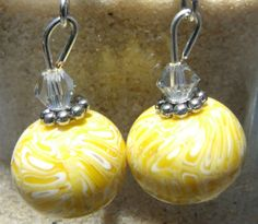 Summer Sale  Polymer Clay Earrings Sunshine by clayandbeads4me, $6.00