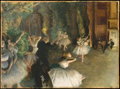 The Rehearsal of the Ballet Onstage by Edgar Degas. A visit to The Metropolitan Museum of Art puts you face to face with the pastels of Edgar Degas, well known for his experimentation with #pastel. Read about it here.