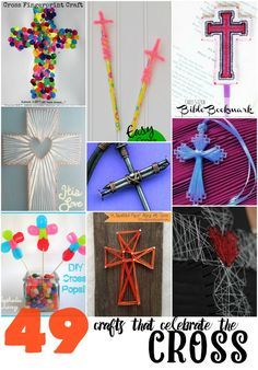 49 Crafts the Celebrate the Cross 48 crafts that celebrate the cross If you enjoy arts and crafts you really will really like this site! Vbs Crafts, Camping Crafts, Crafts For Teens, Easter Crafts, Diy And Crafts, Easter Decor, Easter Ideas, Bible School Crafts, Sunday School Crafts