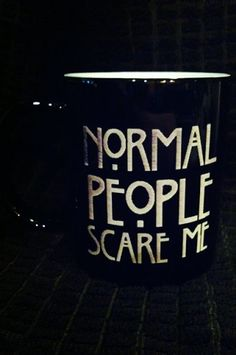 American Horror Story Mug Normal People Scare Me by LazerBees