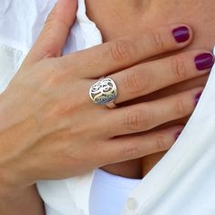 Monogram Initial Ring  Circle Custom Made by MonogrammedNecklaces