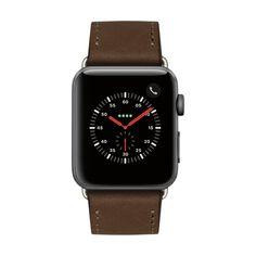 """Offrez à votre Apple Watch un bracelet en cuir """"Plein-Fleur"""" réalisé à la main à Cape Town. Disponible chez capsunshop.ch Apple Watch, Web Design, Smart Watch, Creations, Watches, Leather, Budget, Products, Design Web"""