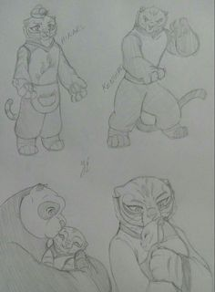 Kung Fu Panda, Po And Tigress, Animation Film, Tmnt, Dreamworks, Disney Pixar, Ships, Fan Art, Cartoon