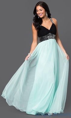 d83e32eb191 Blondie Nites Long Backless Empire Waist Prom Dress
