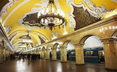 Komsomolskaya station in Moscow. It seems to be wonderful to have such a beautiful station :)