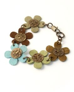 leather and metal bracelet ~ inspiration piece