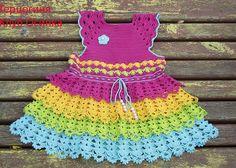 Платье Радуга-дуга) - Вязание - Страна Мам
