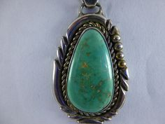 Vintage Native American Light Green Turquoise Pendant by BathoryZ