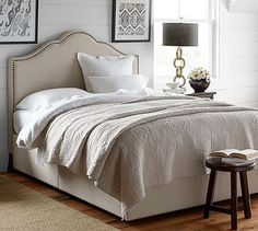 Fallon Upholstered Bed & Headboard #potterybarn