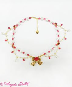 Angelic Pretty Secret Rose Ribbonネックレス