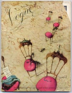 Vintage Vogue Covers, Christian Berard, 1947