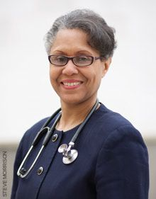 L. Jeannine Bookhardt-Murray, MD works at Harlem United, a community health center for indigent people with HIV, located in the upper reaches of Manhattan.