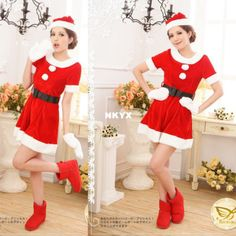 New 2014 Fashion   long-sleeved red dress Catwoman Christmas dress Christmas party dress cosplay costumes stage