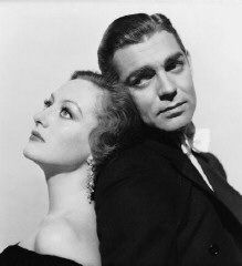 """Joan Crawford and Clark Gable in publicity shot for """"Possessed"""" (MGM, 1931)."""