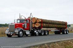 Pix For > Kenworth W900 Log Truck