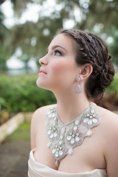 #Hair | See More Wedding Inspiration on SMP: http://www.StyleMePretty.com/florida-weddings/maitland-florida/2014/01/06/romantic-glamour-inspiration-shoot-at-maitland-art-center/ LH Photography