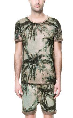 PALM TREE PRINT T-SHIRT from Zara