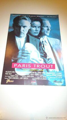 Guía publicitaria de la película: París Trout.