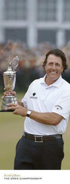Rolex congratulates golf legend Phil Mickelson, winner of the 2013 Open Championship. #RolexOfficial