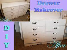 DIY  Drawers/Dresser Makeover