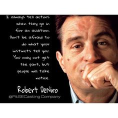 Robert DeNiro quote