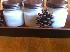 mason jars soy candle making